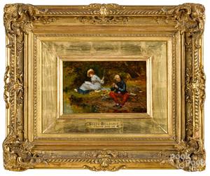Etienne Prosper Berne-Bellecour oil on canvas
