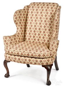 Chippendale mahogany wing chair, ca. 1770