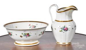 Philadelphia Tucker porcelain pitcher and basin