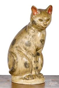 Pennsylvania chalkware cat, 19th c.