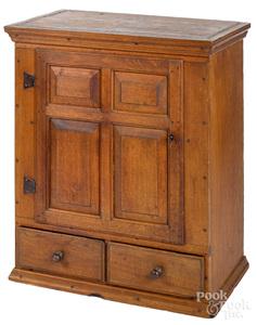 Pennsylvania walnut hanging cupboard, ca. 1770