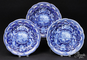 Two Historical blue Staffordshire plates, etc.