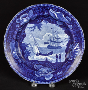 Historical blue Staffordshire Cadmus plate