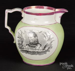 Historical Staffordshire pitcher