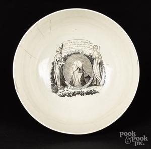 Liverpool Herculaneum bowl, ca. 1795