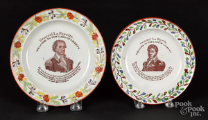 Two Historical Staffordshire plates, 19th c.
