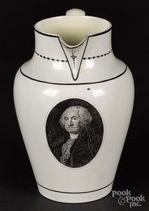 Historical Staffordshire pitcher, early 19th c.