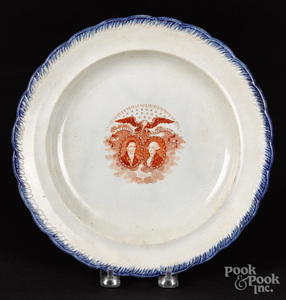 Historical Staffordshire plate, 19th c.