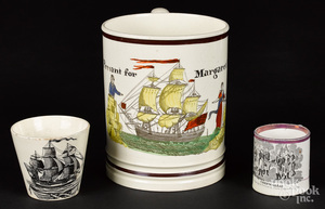 Three pieces of Historical Staffordshire