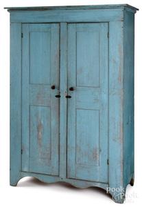 Pennsylvania panted pine wall cupboard