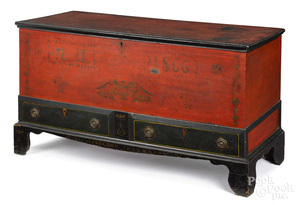 Pennsylvania Soap Hollow painted blanket chest