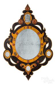 Pennsylvania folk art mirror, late 19th c.