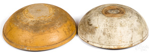 Two turned and painted wood bowls, 19th c.