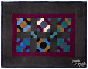 Holmes County, Ohio Amish pieced crib quilt