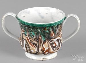 Mocha loving cup, 19th c.