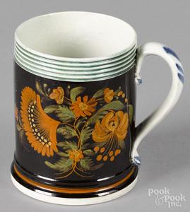 Mocha child's mug, 19th c.