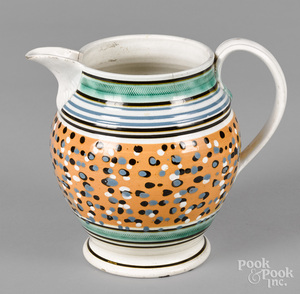 Mocha pitcher, 19th c.