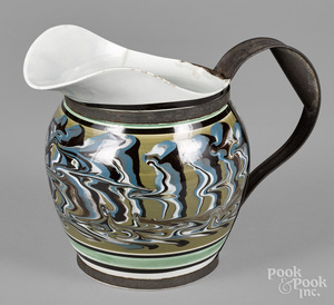 Large mocha pitcher, 19th c.