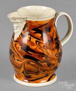 Mocha pitcher, 19th c.