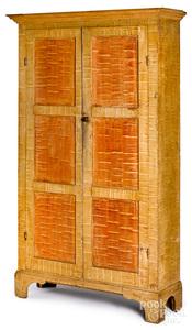 Pennsylvania painted pine wall cupboard
