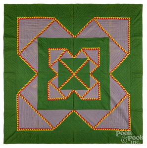 Delectable Mountain quilt, late 19th c.