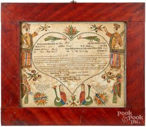 Georg Frederich Speyer fraktur birth certificate
