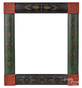 Painted pine frame, 19th c.