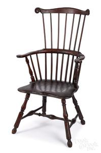 Pennsylvania fanback Windsor armchair, ca. 1790