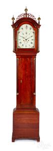 Massachusetts Federal mahogany tall case clock