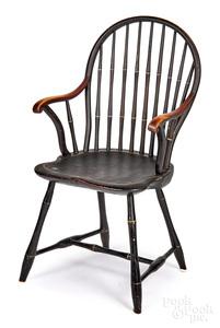 Massachusetts bowback Windsor armchair, ca. 1810