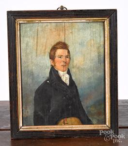 Oil on panel portrait of a gentleman, ca. 1835