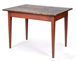 Painted pine tavern table, 19th c.