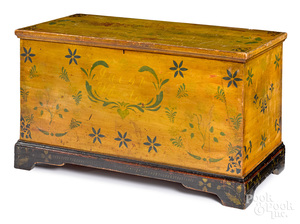 Ohio painted poplar dower chest, mid 19th c.