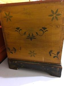 Ohio painted poplar dower chest, mid 19th c.