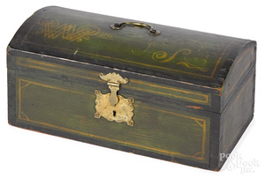 New England painted dome lid box, 19th c.