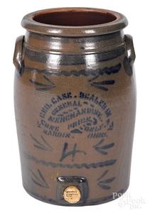 Western Pennsylvania stoneware advertising cooler