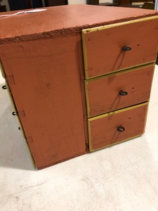 Ohio painted jewelry box, early 20th c.