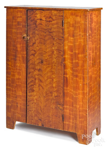 Ohio painted pine and poplar cupboard, 19th c.