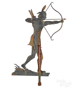Sheet iron Indian weathervane, early/mid 20th c.