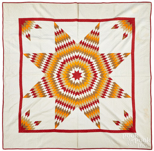 Lone star quilt, late 19th c.