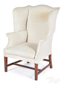 George III mahogany wing chair, ca. 1770