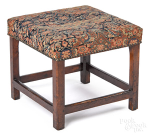 Chippendale mahogany stool, 18th c.