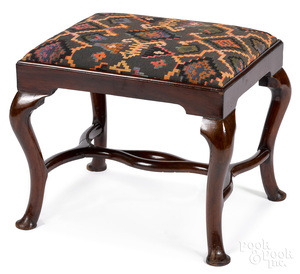 George II mahogany foot stool, ca. 1750