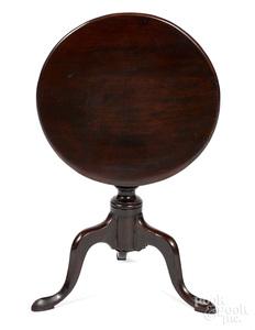 Miniature George II mahogany tea table