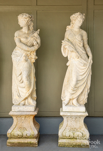 Set of four garden statues of the four seasons