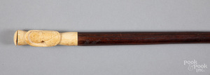 Rosewood cane, late 19th c.
