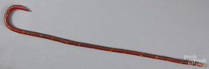 Red and yellow painted cane, early 20th c.