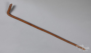Carved cane, late 19th c.