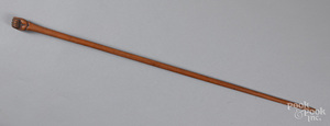 Carved cane, ca. 1900