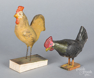 Rooster squeak toy, ca. 1900